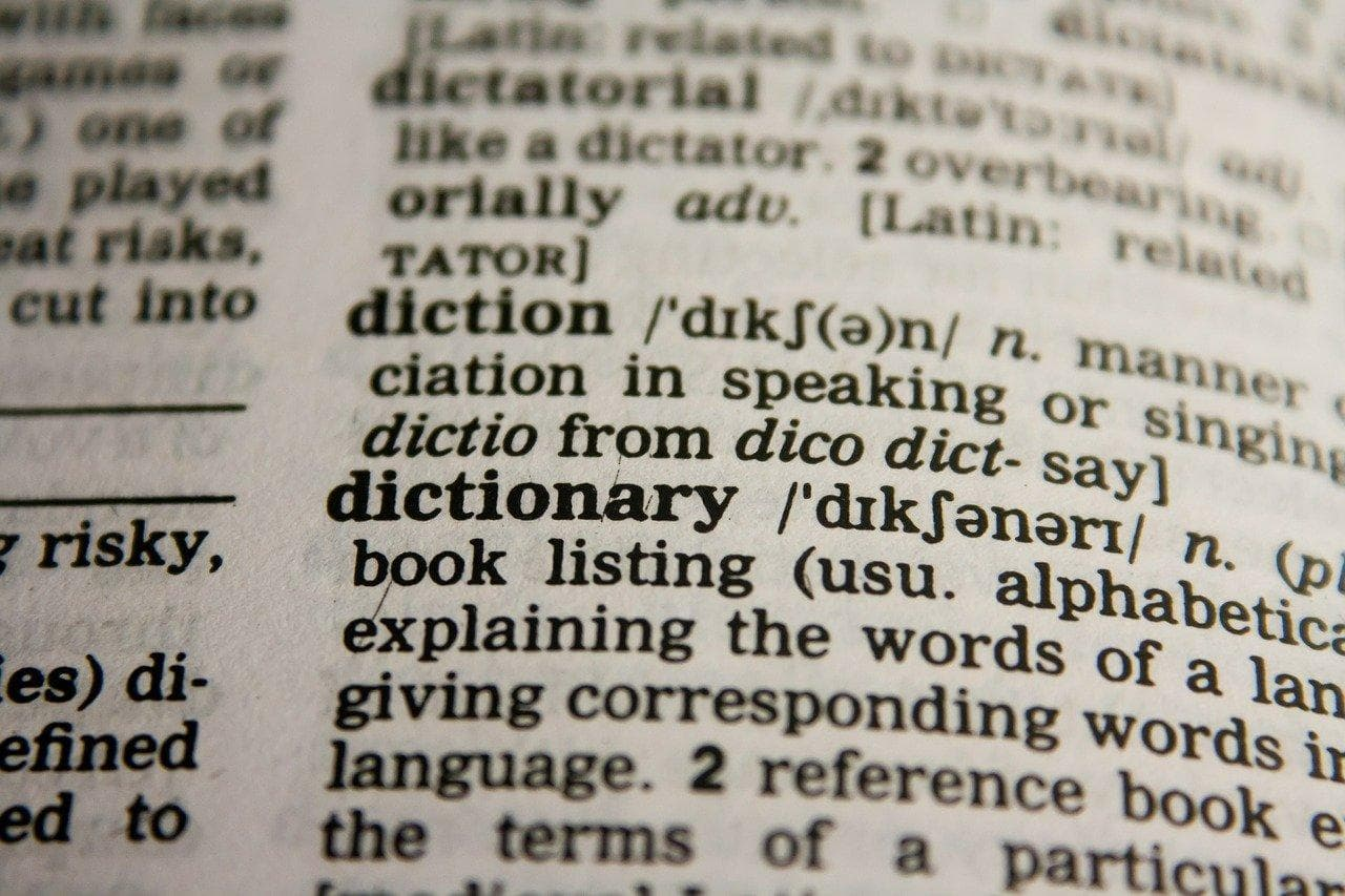 a picture of a dictionary